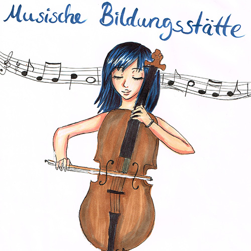 Sie spielt Cello von Carolin